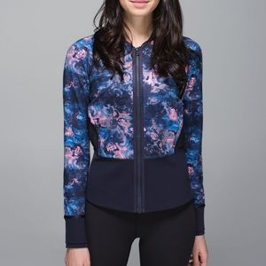 """Lululemon """"if you're lucky"""" moody mirage jacket"""